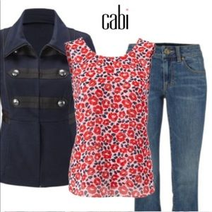 Cabi Flipside Blouse Reversible Top M